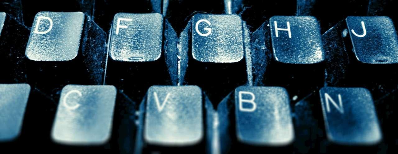 Fotografi på del av tangentbord.